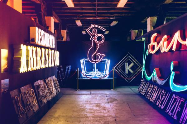 """The collection includes a neon edition of """"the Mermaid of Warsaw"""" – the city's official emblem."""